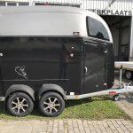 Bockmann Comfort Zwart metallic polyester zadel Nieuw zijkant 3