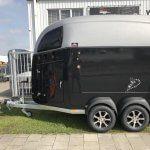 Bockmann Comfort Zwart metallic polyester zadel Nieuw zijkant2